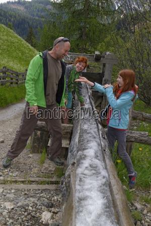 italy alto adige happy family on