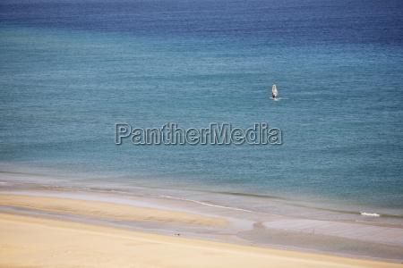 spain canary islands fuerteventura jandia windsurfer