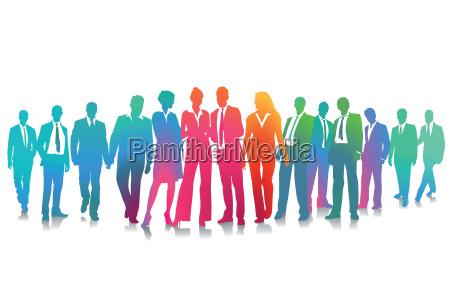 business and employee meetingillustration