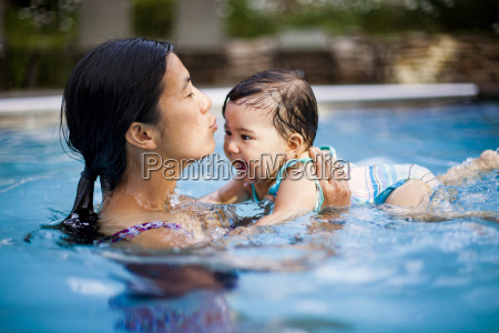 a japanese american mother swims and