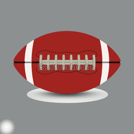 american football on grey background vector