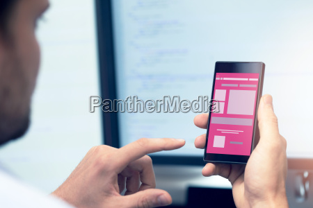 mobile application development programmer with