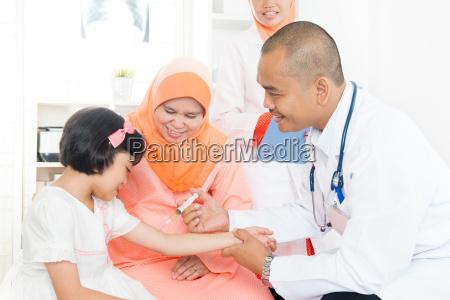 children vaccination concept