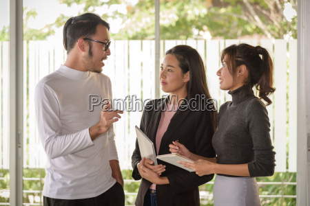 young asian business people man and