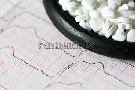 cardiology macro of ecg graph and