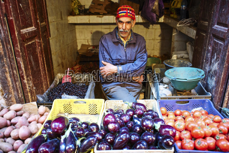 the vegetable market in the souk