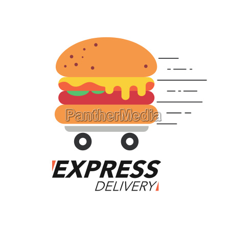 express delivery concept burger or fast