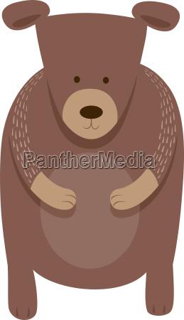 cute bear cartoon animal character