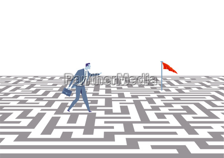 business strategy conceptillustration