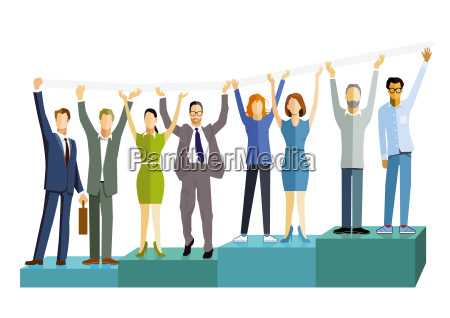 business people with successful balancebusiness successillustration