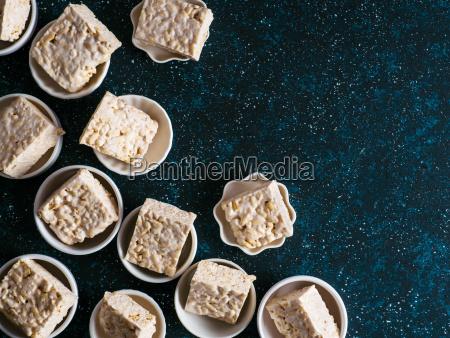 homemade bars of marshmallow and crispy