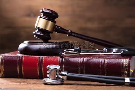 judge gavel and soundboard on law