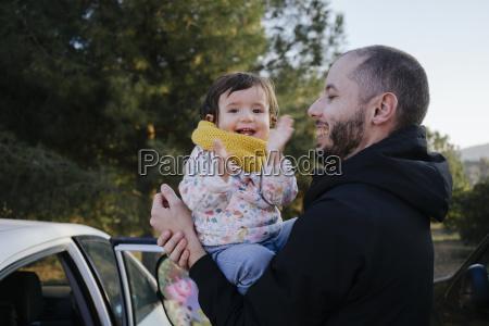 portrait of happy baby girl on