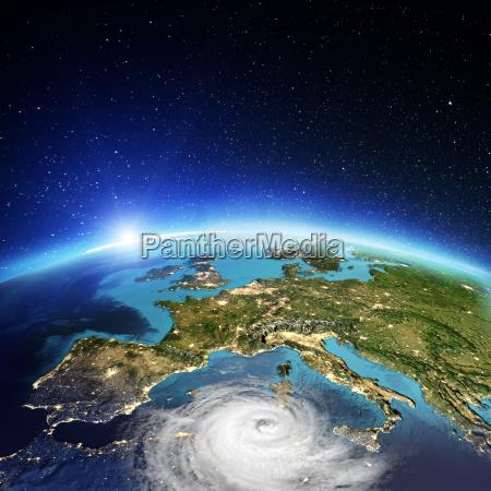 europe cyclone 3d rendering