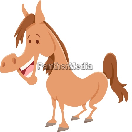 horse cartoon farm animal character