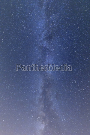 stars in sky with the milky