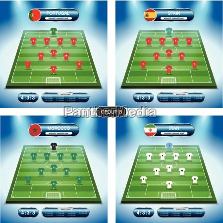 soccer team player plan group b