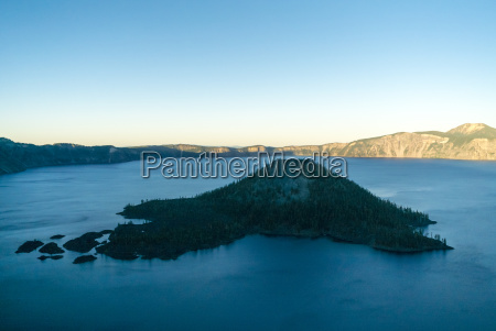 scenic view of crater lake against