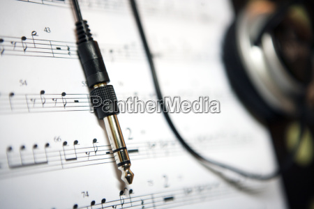 wire on sheet music