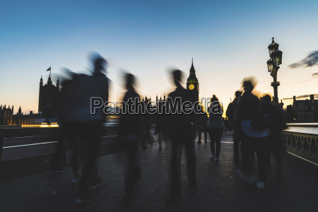 uk london silhouette of people on