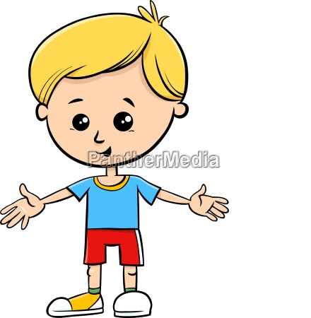 cute little boy cartoon kid character