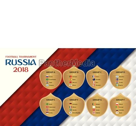 football tournament russia 2018 groups design