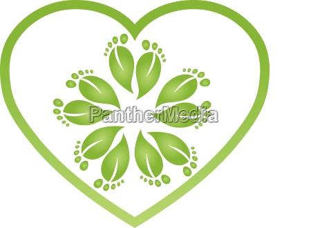 many feet heart foot feet massage
