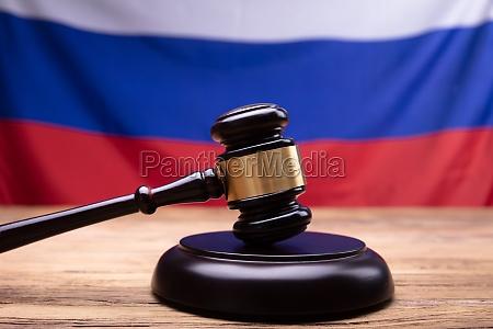 close up of judge gavel on