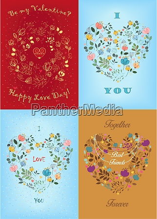 floral valentines day cards