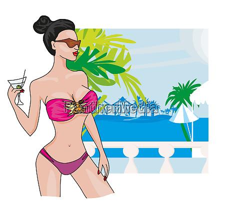 sexy beach girl