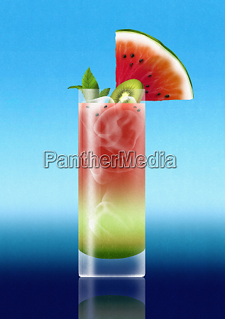 tropical watermelon cocktail drink