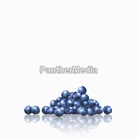 pile of blueberries