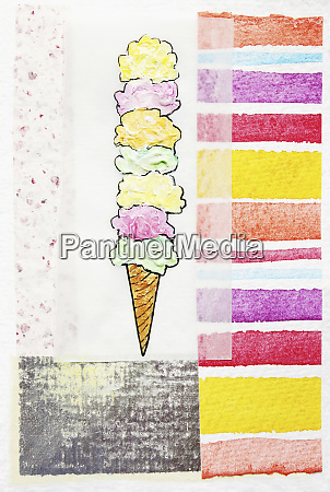 stacked ice cream cone