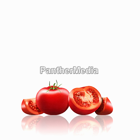 fresh tomatoes whole halved and slices
