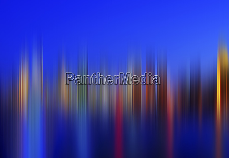 blurred view of cityscape at night