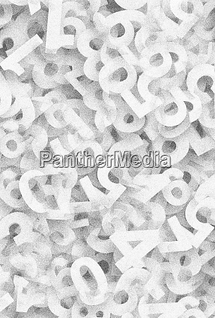 abstract pile of jumbled numbers