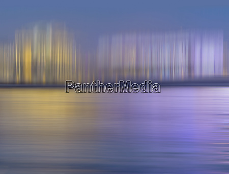 abstract pattern of blurred buildings on