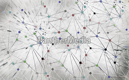 abstract network pattern of connected dots