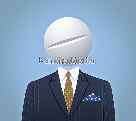 businessman with large pill for head