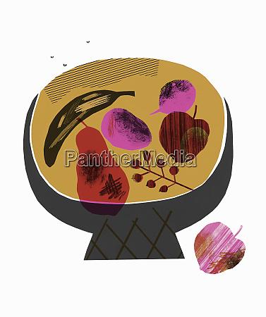 fruit rotting in fruit bowl