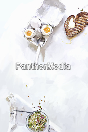 soft boiled eggs with buttered toast