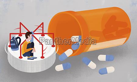 boy on pill bottle roundabout