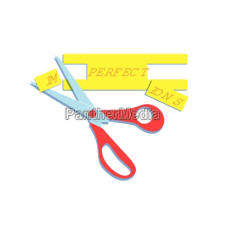 scissors changing imperfections to perfect