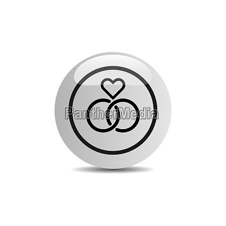wedding icon in a button on