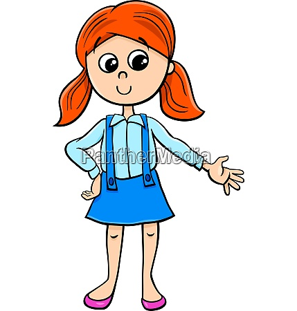 cute girl character cartoon illustration