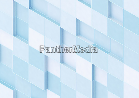 abstract wall of uneven square blocks