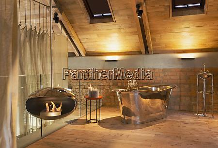 modern home showcase interior bathroom with